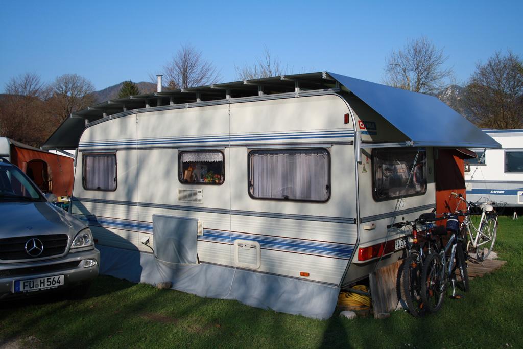 Wohnwagenschutzdach - Schutzdach Camping Alpen
